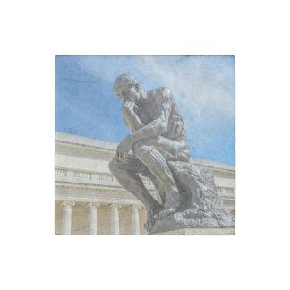 Rodin Thinker Statue Stone Magnet