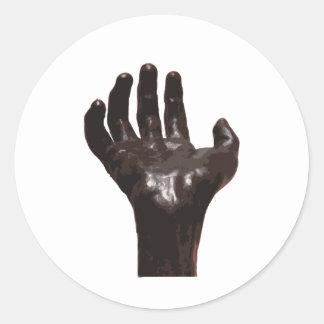 Rodin's Hand Round Stickers