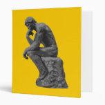 Rodin's Thinker 3 Ring Binder