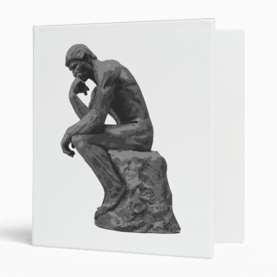 Rodin's Thinker 3 Ring Binder
