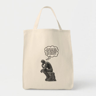 Rodin's Thinker - Cousins Canvas Bag