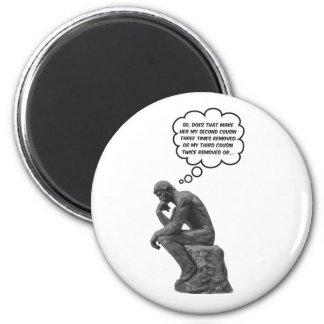 Rodin's Thinker - Cousins Magnets