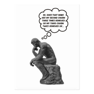 Rodin's Thinker - Cousins Post Card