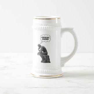 Rodin's Thinker - Genealogy Rocks! Beer Stein
