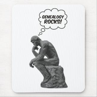 Rodin's Thinker - Genealogy Rocks! Mouse Pad