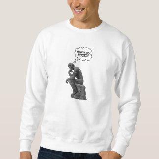 Rodin's Thinker - Genealogy Rocks! Sweatshirt