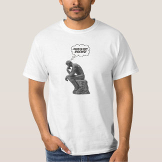 Rodin's Thinker - Genealogy Rocks! T-Shirt