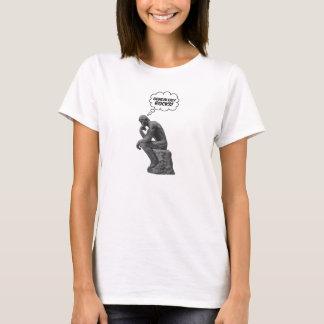 Rodin's Thinker - Genealogy Rocks! T-Shirt