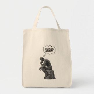 Rodin's Thinker - Genealogy Rocks! Tote Bag