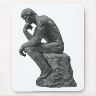 Rodin's Thinker Mouse Pad