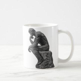 Rodin's Thinker Classic White Coffee Mug