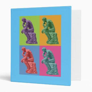 Rodin's Thinker - Pop Art 3 Ring Binders