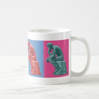 Rodin's Thinker - Pop Art Classic White Coffee Mug
