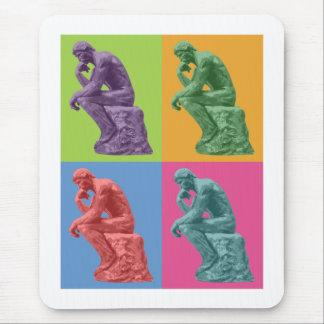 Rodin's Thinker - Pop Art Mouse Pads