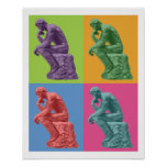 Rodin's Thinker - Pop Art Poster