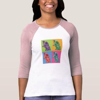 Rodin's Thinker - Pop Art T-shirts
