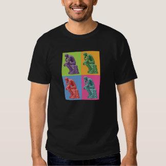 Rodin's Thinker - Pop Art Tee Shirt