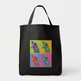 Rodin's Thinker - Pop Art Tote Bag