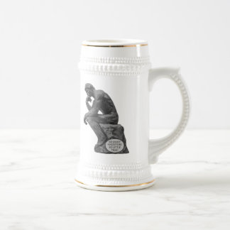 Rodin's Thinker - So Many Ancestors Beer Stein