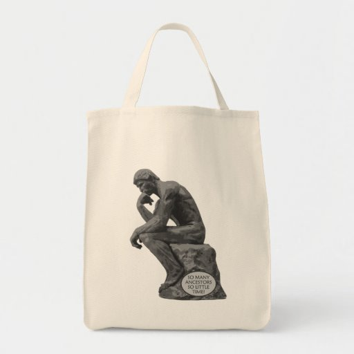 Rodin's Thinker - So Many Ancestors Canvas Bag