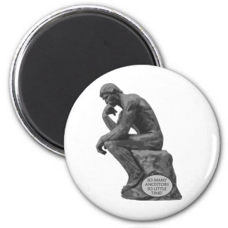 Rodin's Thinker - So Many Ancestors Magnet