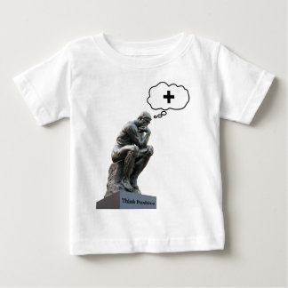 Rodin's Thinker Statue - Think Positive Baby T-Shirt