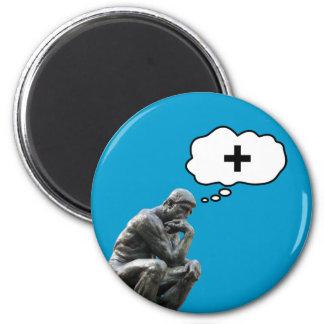 Rodin's Thinker Statue - Think Positive Magnet