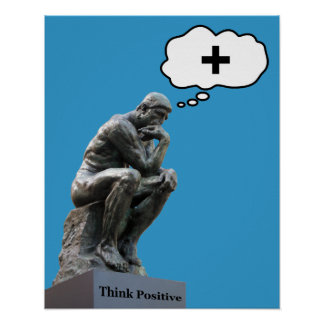 Rodin's Thinker Statue - Think Positive Poster