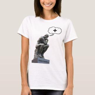 Rodin's Thinker Statue - Think Positive T-Shirt
