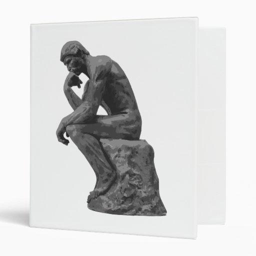 Rodin's Thinker Vinyl Binder