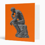 Rodin's Thinker Vinyl Binders