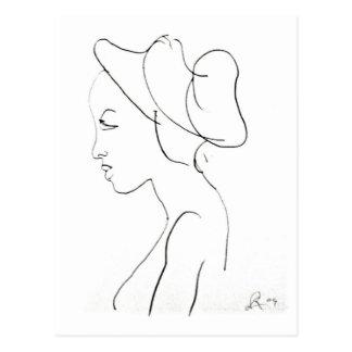 Rodney Artiles Sketch of a Woman Postcard
