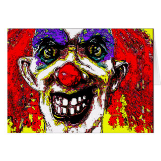Rodney Clown Happy Halloween Card by VALPYRA