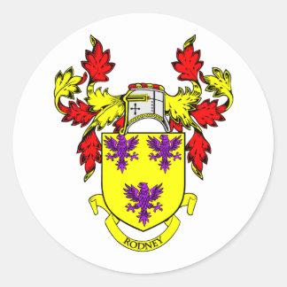 RODNEY Coat of Arms Sticker