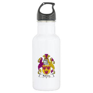 Rodney Family Crest 18oz Water Bottle