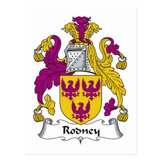 Rodney Family Crest Post Card