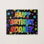"[ Thumbnail: ""Rodney"" First Name, Fun ""Happy Birthday"" Jigsaw Puzzle ]"