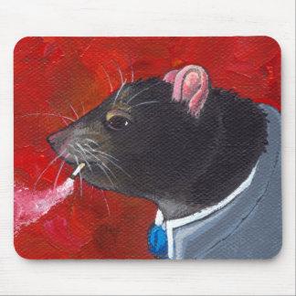 Rodney la rata - traje de negocios que fuma arte ú alfombrillas de ratones