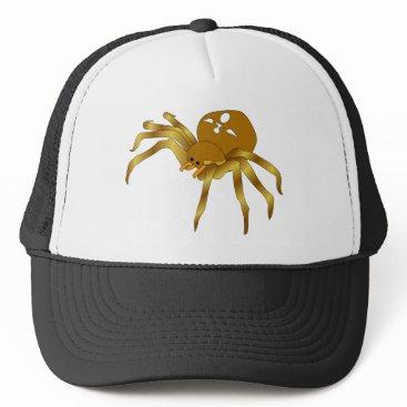 Halloween Themed Rodney The Golden Spider Trucker Hat
