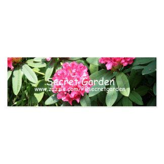 Rododendro (3) tarjeta personal
