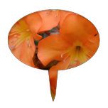 Rododendro anaranjado floreciente decoración para tarta