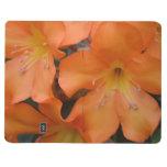 Rododendro anaranjado floreciente cuadernos