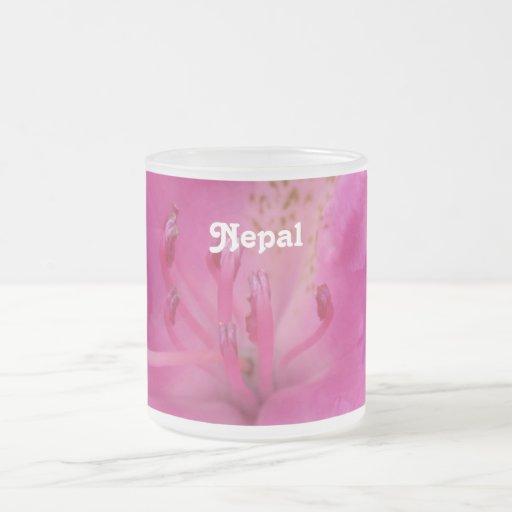 Rododendro de Nepal Taza Cristal Mate