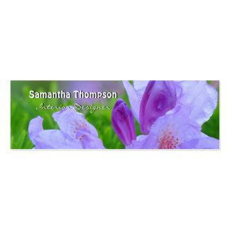 Rododendro después de la lluvia personalizada tarjetas de visita