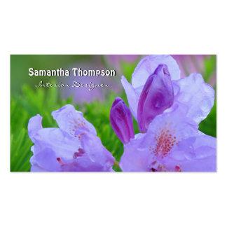 Rododendro después de la lluvia personalizada tarjeta personal