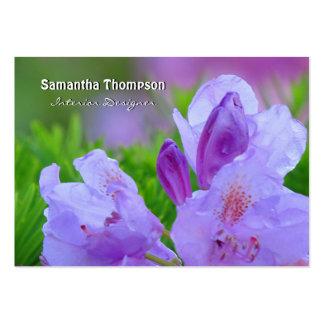 Rododendro después de la lluvia personalizada plantillas de tarjeta de negocio