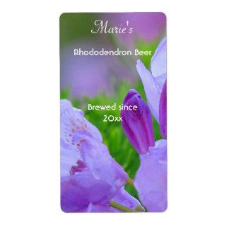 Rododendro después de las etiquetas de la cerveza etiquetas de envío