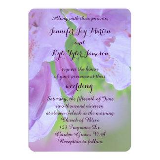 """Rododendro después del boda de la lluvia invitación 5"""" x 7"""""""