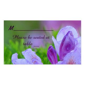 Rododendro después del lugar del boda de la lluvia tarjeta de negocio