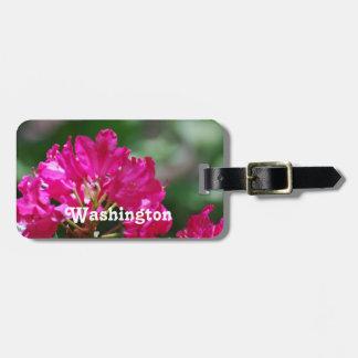 Rododendro en Washington Etiqueta De Equipaje